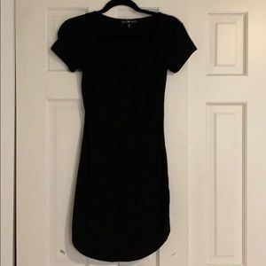 Black Dress with Front Tie Detail